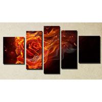 アートパネル 『薔薇と炎』 25x40cm他、計5枚組