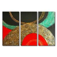 アートパネル 『円Ⅱ』 30x60cm x 3枚組