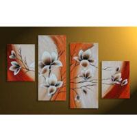 アートパネル 『白い花びらⅤ』 30x40cm他、計4枚組