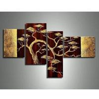 アートパネル 『金色の松』 30x40cm、2枚他、計4枚組