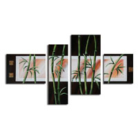 アートパネル 『竹Ⅳ』 30x90cm他、4枚組