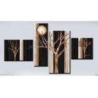 アートパネル 『枯れ木と太陽』 30x40cm、1枚他、計4枚組