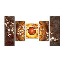 アートパネル 『花と太陽』 20x60cm他、5枚組