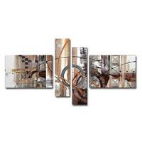 アートパネル 『機械文明Ⅱ』 20x60cm他、4枚組