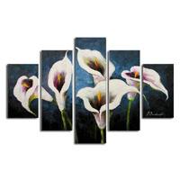 アートパネル 『白いユリの花Ⅲ』 30x90cm他、5枚組