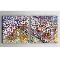 アートパネル 『春の開花』 50x50cm x 2枚組