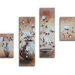 アートパネル 『花瓶の花』 30x90cm x 2枚他、計4枚組