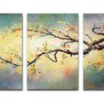 アートパネル 『黄梅』 40x60cm x 3枚組 梅の木