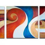 アートパネル 『渦Ⅱ』 25x50cm x 2枚他、計3枚組