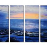アートパネル 『磯辺と海』 30x80cm x 4枚組