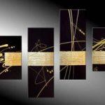 アートパネル 『黄金と黒Ⅱ』 40x60cm他、計4枚組