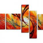 アートパネル 『赤炎』 20x80cm x 2枚他、計5枚組