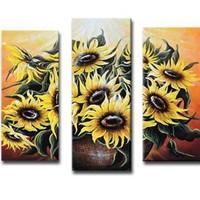 アートパネル 『向日葵Ⅱ』 30x70cm x 2枚他、計5枚組