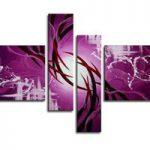 アートパネル 『パープル』 20x80cm x 2枚他、計4枚組