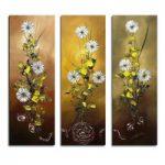 アートパネル 『菊の花』 30x90cm x 3枚組