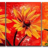 アートパネル 『黄色い花びら』 50x60cm x 3枚
