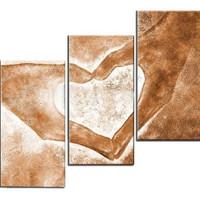 アートパネル 『愛のカタチ』 30x50cm x 3枚組 ハート