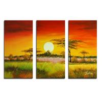 アートパネル 『日暮れⅢ』 30x60cm x 3枚組