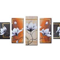 アートパネル 『白い花Ⅳ』 30x70cm x 2枚他、計5枚組
