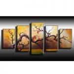 アートパネル 『梅の咲く木』 合計5枚組 梅 梅の木
