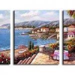 アートパネル 『海辺の庭園』 40x50cm x 3枚