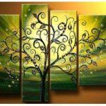 アートパネル 『踊る木のある緑の世界』 4枚組