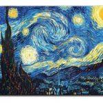 アートパネル ゴッホ『星月夜Ⅳ』 70x100cm x 1枚 模写(複製画)