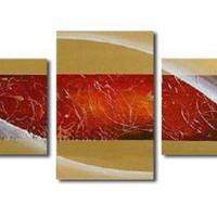 アートパネル 『赤い抽象』 40x50cm x 3枚組
