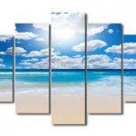 アートパネル 『真夏のビーチ』 25x70cm他、5枚組