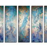 アートパネル 『水色Ⅱ』 20x70cm x 5枚組