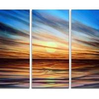 アートパネル 『サンシャインⅡ』 30x60cm x 3枚 日暮れ 夕暮れ 夕焼け