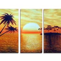 アートパネル 『サンシャイン』 30x60cm x 3枚 日暮れ 夕暮れ 夕焼け