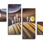 アートパネル 『惑星Ⅳ』 30x70cm x 2枚他、計4枚組