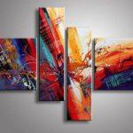 アートパネル 『閃きⅡ』 20x80cm、2枚他、計4枚組