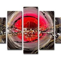 アートパネル 『流線と円』 25x80cm他、計5枚組