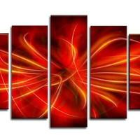 アートパネル 『炎』 25x70cm他、計5枚組