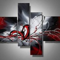 アートパネル 『赤龍』 20x80cm、2枚他、計4枚組