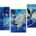 アートパネル 『青い抽象Ⅱ』 40x60cm x 3枚組