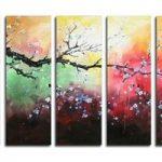 アートパネル 『梅の木Ⅹ』 30x90cm x 5枚組 梅