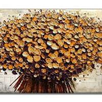 アートパネル 『フラワー・ブーケ(黄)(ビッグサイズ)』 75x150cm x 1枚 大型 お店のディスプレイ インテリア