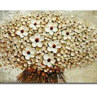 アートパネル 『フラワー・ブーケ(白)(ビッグサイズ)』 75x150cm x 1枚 大型 お店のディスプレイ インテリア