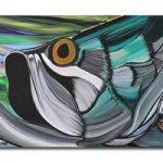 アートパネル 『魚(うお)』 55x170cm x 1枚 フィッシュ 大型 お店のディスプレイ インテリア