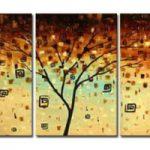 アートパネル 『ブラウン・ツリー』 40x60cm x 3枚組