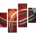 アートパネル 『流線と円Ⅱ』 30x80cm他、計4枚組