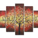 アートパネル 『生命の樹XI』 30x50cm x 2枚他、計5枚組