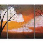 アートパネル 『枯れ木と雲』 40x50cm x 3枚組