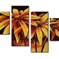 アートパネル 『ヒマワリⅤ』 30x70cm他、計4枚組 向日葵