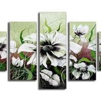 アートパネル 『白い花Ⅵ』 30x80cm他、計5枚組