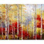 アートパネル 『樺の木』 30x80cm x 4枚組