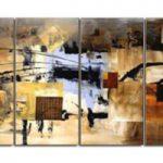 アートパネル 『抽象Ⅱ』 35x70cm x 4枚組